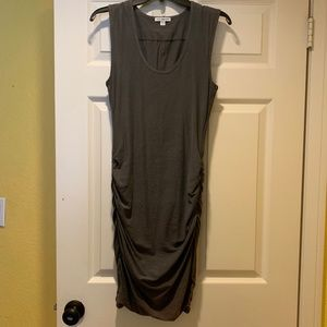 James Perse Side Ruched Dress Sz 2